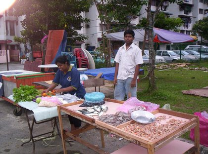 Local Indian: Kalisvaran's Vegetable and Fish Stall